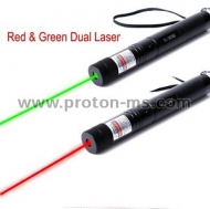 Laser Pointer with 2 Colors: Green & Red