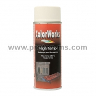 Color Works High Temperature Spray, White 650° SW 050312