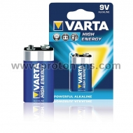 Алкална Батерия 9V VARTA High Energy, 1 бр.