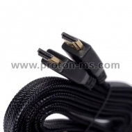 HDMI male - HDMI male Cable, Flat, 5 m, Cantell 3D FullHD 1.4