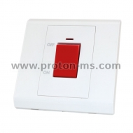 LEGRAND Boiler Switch with Indication, White, 45A, 220V, 50Hz