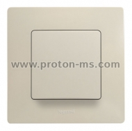 Legrand Cariva Single Switch, Beige