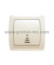 Viko Carmen Stairs Switch with Light Button, Beige 90562014