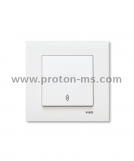 Viko Karre Debiator Single Switch, White, 90960004