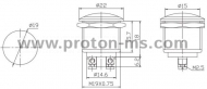 Metal button (ON) / OFF, non-holding 18mm 3A 071122