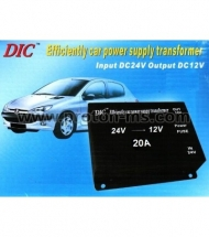 Efficiently car power supply transformer 24V-12V 20A