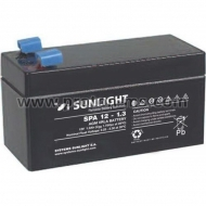 Акумулатор 12V 1.3Ah, Sunlight SPA 12V 1.3 Ah SP 12-1.3
