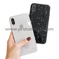 iPhone X LACK Bling Glitter Soft Phone Case For iPhone X Case Fashion Cute Star Back Cover Love Heart Shining Powder