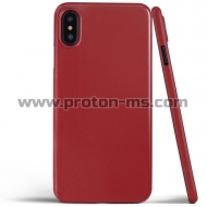 iPhone X Magnetic Case for iPhone X Case iPhone 10 Soft Silicone Magnet Case, Red