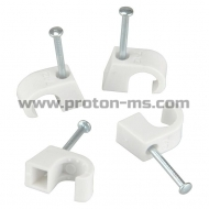 Cable Clips 12 mm, 100 pcs.