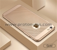 iPhone 7 / 7S Luxury Phone Case Ultra Thin Slim Cover Fashion Cool Breathable, Gold