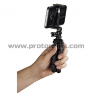 "Hama ""Flex"" Mini-Tripod for Smartphone and GoPro, 14 cm, black"