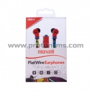 Слушалки с микрофон MAXELL FLAT WIRE, In-Ear, URBAN
