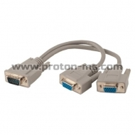 Cable Y, ESTILLO VGA 15 pin / 2 x VGA