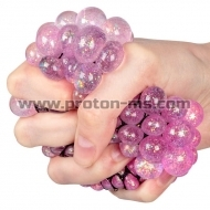 Антистрес топка 7 cm Cute Anti Stress Ball Squishy Mesh Ball с брокат