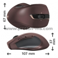 Wireless optical Mouse RAPOO M100 Silent, Multi-mode, Red