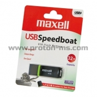 USB памет MAXELL Speedboat, USB 2.0, 32GB, Черен