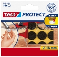 52 Pcs. Self Adhesive Pads, Brown