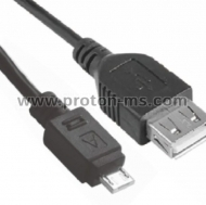 Micro USB to Female USB cable, 30cm