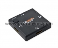 HDMI Switch, 3 Inputs - 1 Output, 1080P 3D