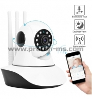 360 Wireless Home Security Camera 720P HD Surveillance IP System with Two-Way Audio, Night Vision, Motion Detection Alert for Baby and Pet with iOS, Android App