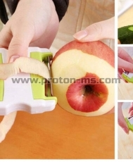 Ultralux Veggie Peeler with Double-Sided Stainless Steel Blades