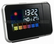 8190 Cool Multifunction Digital Weather Station 12/24 Format Hour Switch Alarm Clock with Time