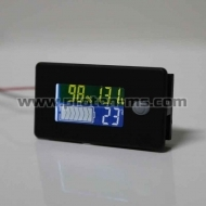 Дигитален Панел Battery Capacity Indicator 12V 24V 36V 48V 60V 72V 10-100V Li-ion Lead acid Battery Tester with LCD Temperature Voltmeter