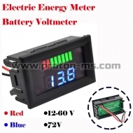 Панел Car Battery Charge Level Indicator 12V 24V 36V 48V 60V 72V Lithium Battery Capacity Meter Tester Display LED Tester Voltmeter