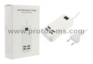 4-Port USB Charger 3A 15W 220V