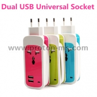 Dual USB Universal Socket 220V 2-Port