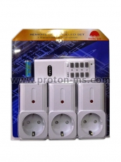 Wireless Remote Controlled Set 1 Transmitter & 3 Adaptors 1000W Rising Sun