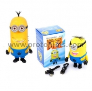 Мини радио колонка Despicable Me 2, MP3, USB, Миньон