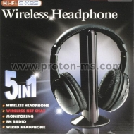 Wireless Headphones MH2001 5 in 1