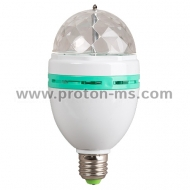 LED Disco Lamp E27 220V 3W (white and black body on the hook)