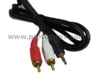 Audio Cable Stereo Jack 3.5mm - 2xRCA, 3 m.
