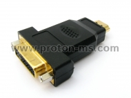 HDMI Female Socket to DVI-D 25 Pin Male Plug Converter Gold