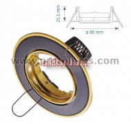 VT 423 Halogen Downlight Titan Black + Gold