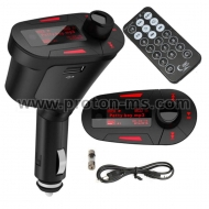 Car Kit MP3 Player Wireless FM Transmitter Modulator USB SD MMC LCD With Remote Red Light