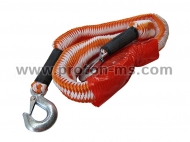 Orange Petex tow rope with carabiner hooks up to 2000kg.
