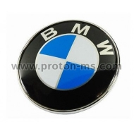 BMW Emblem Badge white-blue, 73mm