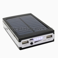 Solar Charger, Power Bank with 2 USB (10000 mAh)