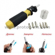 Bit 360 Screwdriver 6 in 1 Multifunctional Rotating Screwdriver Set with 6 Magnetic Bits Open Repair Tools