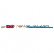 Female Cable Lug with isolation, red 2,8mm / 1,5mm²