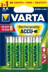 VARTA Battery Rechargeable Accu 2100 mAh R6 AA NiMH, 1pc.
