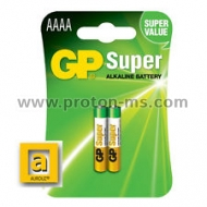 GP Super Alkaline Battery 25A-U2 1.5V size AAAA, 1pc