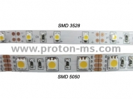LED flexible strip, IP67, 12VDC, 4.8W/M, 60 LEDs/M, 245lm/M, 1m.