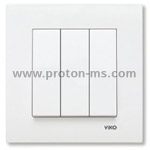 Viko Triple Key Karre, White 90960068