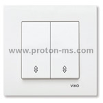 Viko Karre Single Switch, Deviator, White 90960017