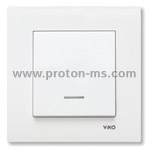 Viko Karre Single Switch, Illuminated, White 90960019